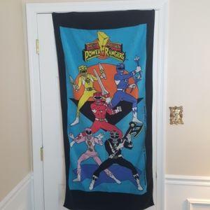 Vtg Power Rangers towel